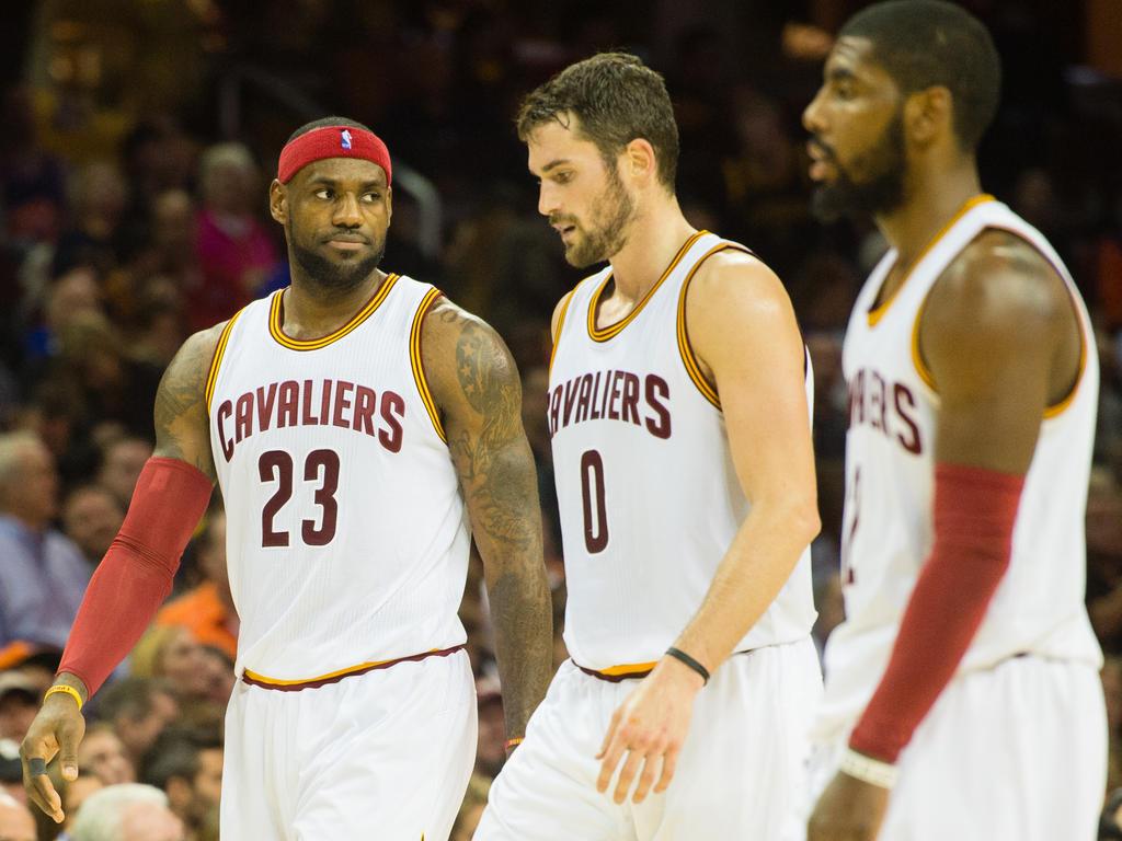 Sie dominieren die Western-Conference der NBA: Lebron James, Kevin Love und Kyrie Irving