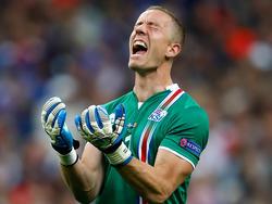 Hannes Halldórsson zeigte gute Leistungen bei der EM in Frankreich