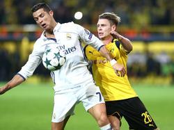 Streiten sich am Mittwochabend um den Gruppensieg: Reals Ronaldo (l.) und Dortmunds Piszczek
