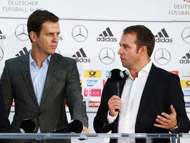 Oliver Bierhoff (l.) will eine Neu-Definition des Posten des DFB-Sportdirektors