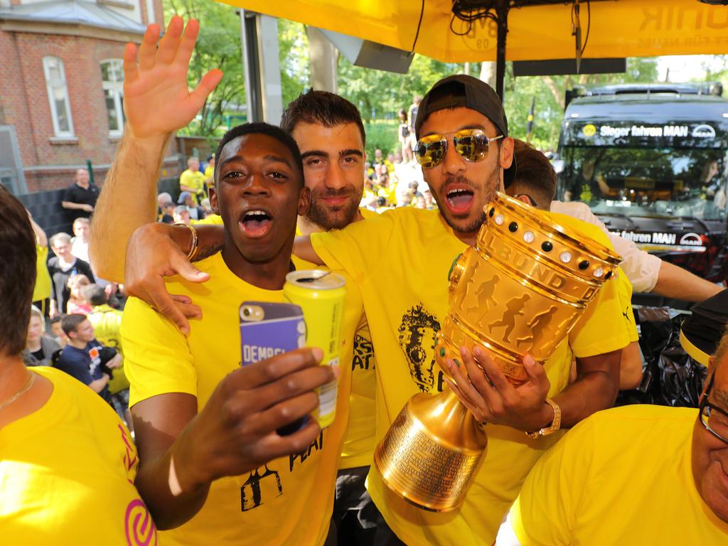 Ist BVB-Angreifer Ousmane Dembélé (l.) ein Kandidat für die Neymar-Nachfolge?