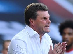 Dieter Hecking war nach der 1:6-Pleite gegen Dortmund nicht zufrieden