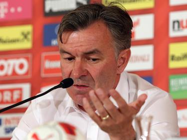 ÖFB-Sportdirektor Willi Ruttensteiner beim Medientermin in der Schweiz