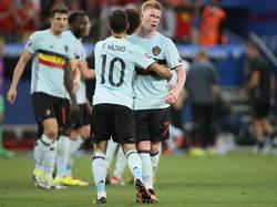 Noch nicht in Topform: Belgiens Starspieler Eden Hazard und Kevin De Bruyne