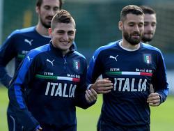 Marco Verratti con la selección italiana. (Foto: Getty)