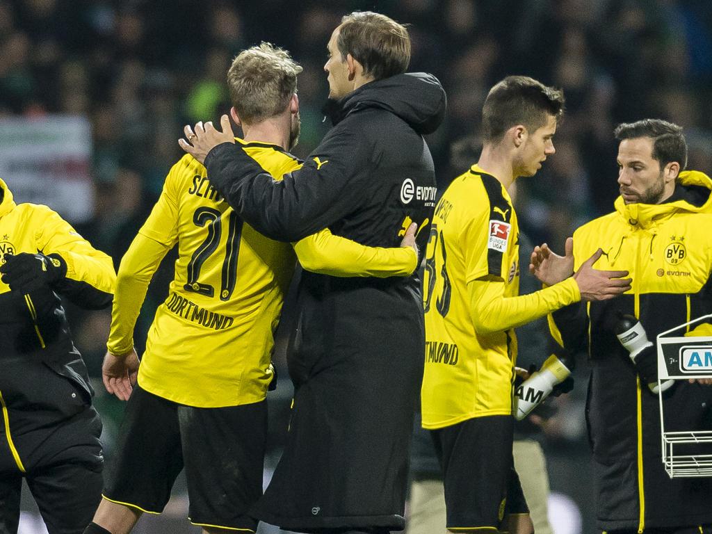 Die Erleichterung war groß beim BVB nach dem 2:1-Auswärtssieg