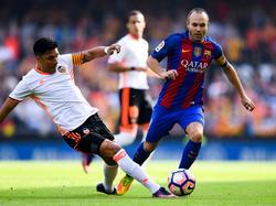 Andres Iniesta verletzte sich gegen Valencia