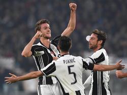 Juve feiert einen Sieg über Atalanta