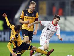 Marco Hartmann (m.) wird den Dresdnern gegen Duisburg fehlen