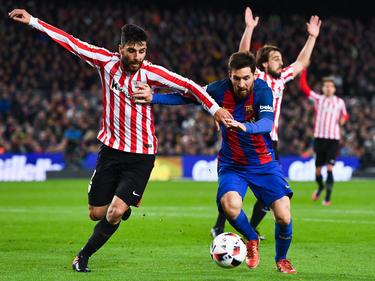 Das Zünglein an der Waage: Messi (r.) schoss den FC Barcelona eine Runde weiter