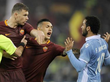 Im Derby della Capitale zwischen AS und Lazio Rom ging es heiß her