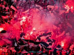 Fans von Eintracht Frankfurt zünden beim Pokalfinale gegen Borussia Dortmund