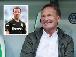 Hans-Joachim Watzke war mit dem Arbeitstag von Mario Götze in Wolfsburg zufrieden