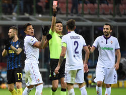 Rodríguez vom ACF Fiorentina sah die Rote Karte