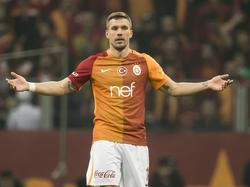 Treten auf der Stelle: Lukas Podolski und Galatasaray