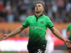 Erzielte beide Tore für H96: Niklas Füllkrug