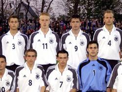 Vizeeuropameister (v.l.n.r.): Matthias Lehmann, Philipp Lahm, Mike Hanke, Piotr Trochowski, Sebastian Kneißl, Daniel Haas, Janis Crone