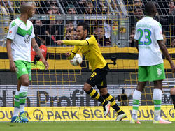 Pierre-Emerick Aubameyang traf gegen Wolfsburg blitzschnell doppelt