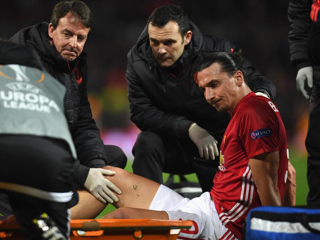 Zlatan Ibrahimović verletzte sich am Knie