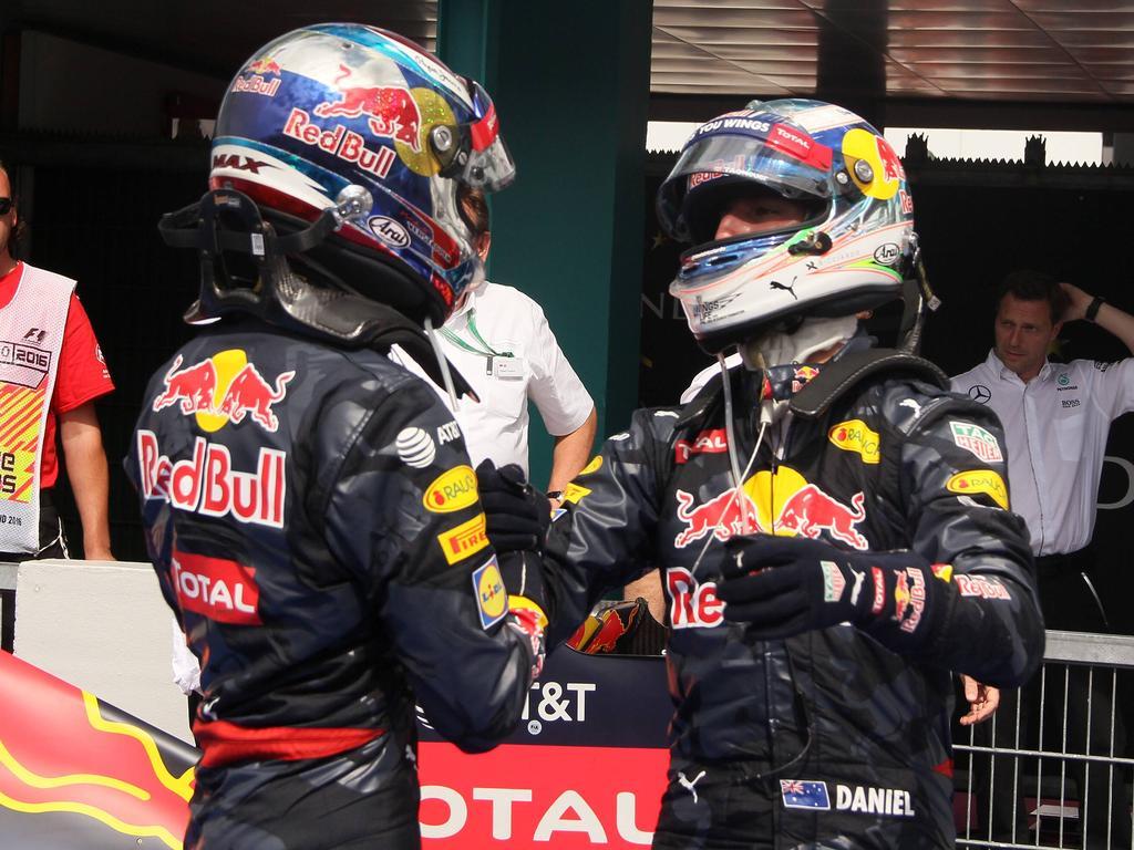 Fahren Daniel Ricciardo und Max Verstappen im Rennen um den Sieg?