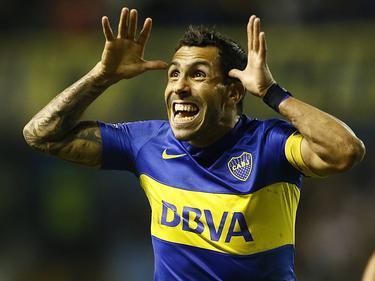 Noch hat er gut lachen: Carlos Tévez steht mit Boca unter Druck