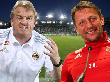 Der neue Rapid-Coach Mike Büskens kann nach Punkten nicht mit Ex-Trainer Zoran Barišić mithalten