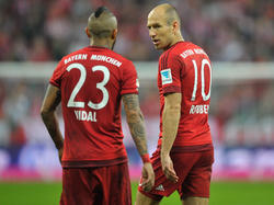 Fehlten beim Training: Arturo Vidal und Arjen Robben (r.)