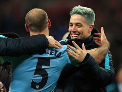 Samir Nasri con el Manchester City. (Foto: Getty)