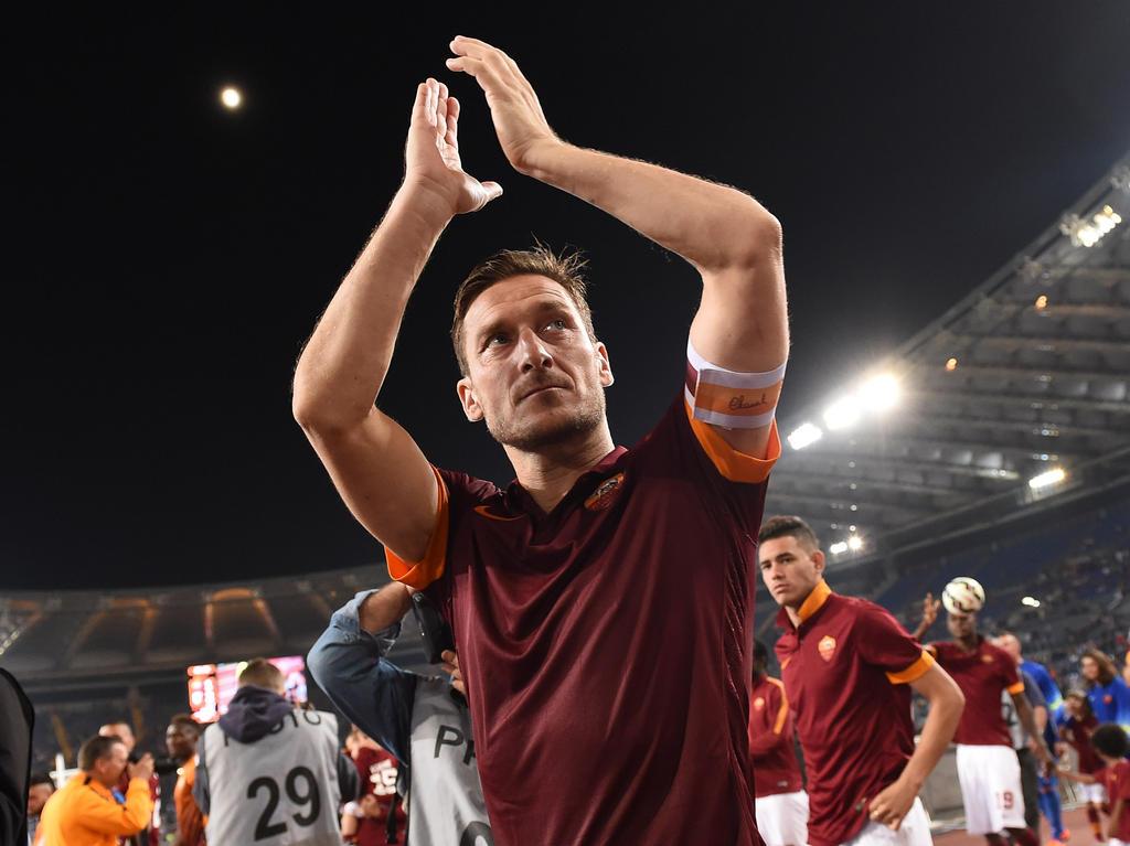 Roma-Star Totti vor letztem Match