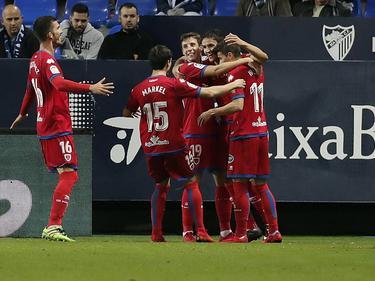 El Numancia echó de la Copa al Málaga en la pasada ronda. (Foto: Imago)