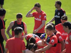 Fernando Torres beim Training von Atlético Madrid