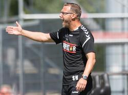 Für Großaspach-Coach Sascha Hildmann setzte es eine böse Klatsche