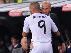 Zinedine Zidane hofft auf eine Lösung im Fall Benzema