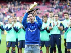 Gewohntes Bild: Messi mit dem Golden Shoe (hier im Jahr 2013)