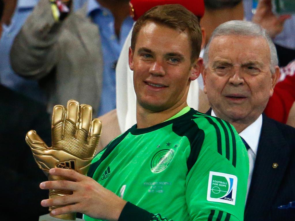 Manuel Neuer wurde zum besten Torhüter der WM 2014 gewählt