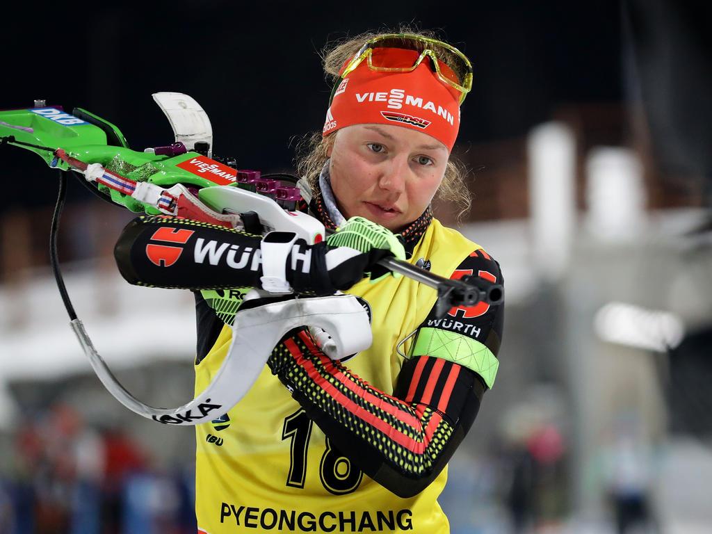 Biathletin Laura Dahlmeier gewinnt ihre dritte Kristallkugel