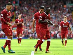 Sadio Mané en una celebración de gol contra el Arsenal. (Foto: Getty)