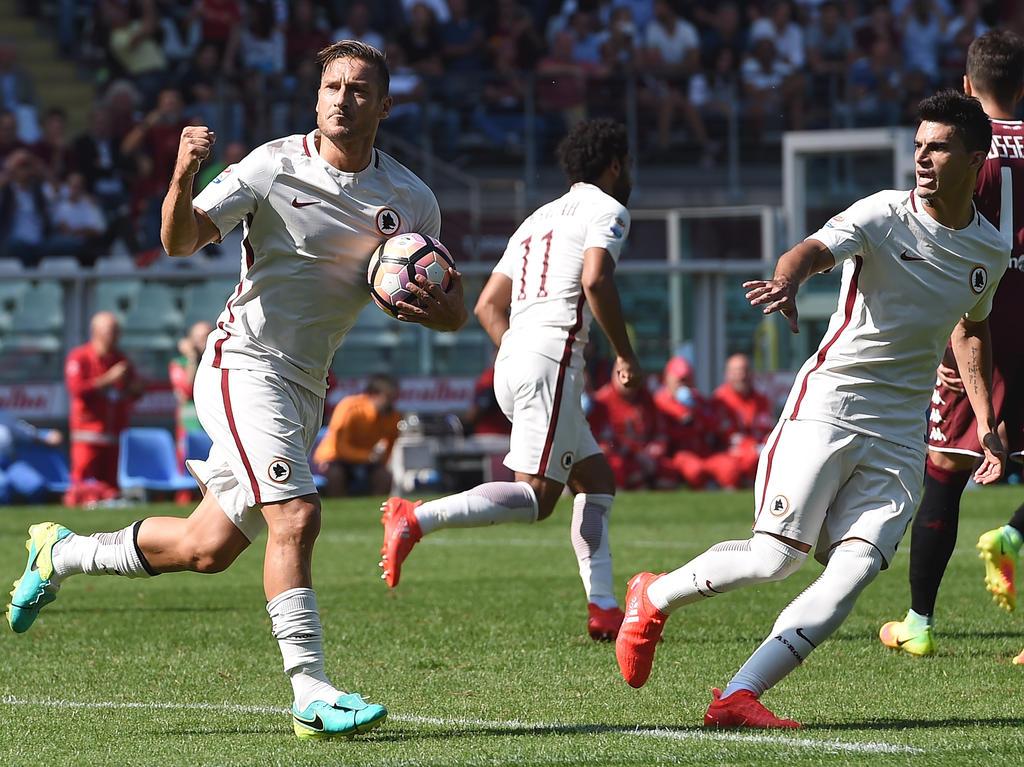 Francesco Totti erreichte in seiner Karriere den nächsten Meilenstein