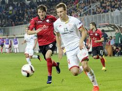 Gaëtan Bussmann vom FSV Mainz ging siegreich vom Platz