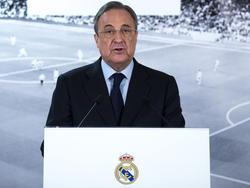 Reals Präsident Florentino Pérez hat gute Neuigkeiten