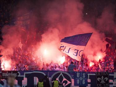 Fans zündeten bei den Derbys gegen Frankfurt Pyrotechnik