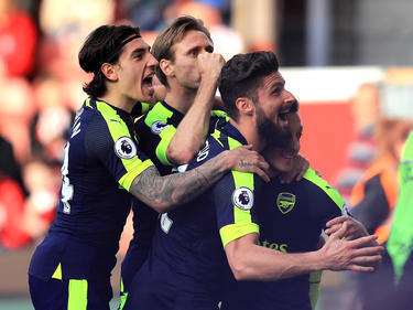 Victoria del Arsenal ante el Stoke. (Foto: Getty)