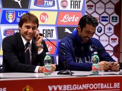 Antonio Conte (l.) und Gianluigi Buffon (r.) stimmten nicht über den Weltfußballer ab