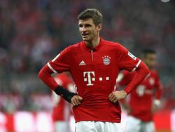 999 Spielminuten musste Bayerns Thomas Müller auf sein 92. Bundesligator warten