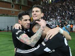 José Sosa (l.) und Mario Gomez werden nicht mehr zusammen für Beşiktaş jubeln