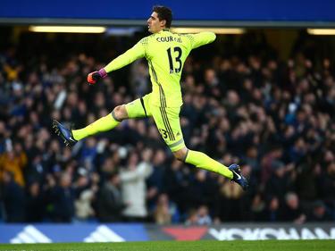 Chelsea-Keeper Thibaut Courtois feierte per Luftsprung