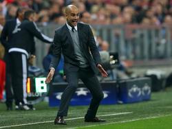 Pep Guardiola zeigte sich mit dem Resultat zufrieden