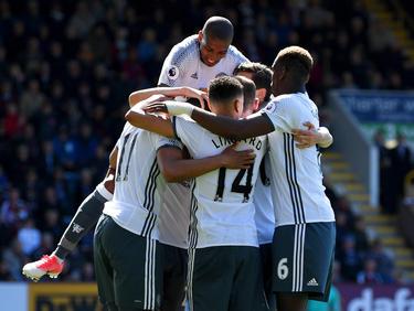 Grund zum Jubeln: ManUnited erzielte zwei Tore gegen Burnley