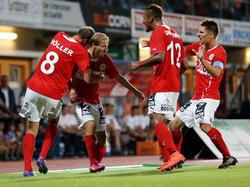 Der SV Mattersburg jubelt über die Tabellenführung in der Ersten Liga