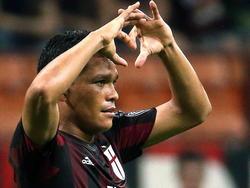 Carlos Bacca freut sich über seinen Treffer